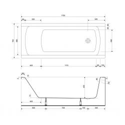 CERSANIT - VAŇA KORAT 170X70 cm (S301-122), fotografie 10/5