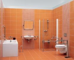 CERSANIT - Rukojeť 50x70 - vertikální/ vodorovná, pravá pro WC a sprchové kouty (K97-031), fotografie 2/3