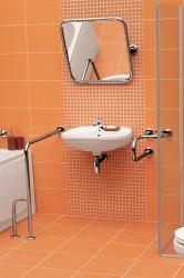 CERSANIT - Madlo 75x80 s montáží do podlahy a stěny pro WC, pravé (K97-037), fotografie 4/3