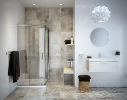 CERSANIT - Konglomerátové nábytkové umývadlo Zuro 80 s otvorom na batériu (K11-0115), fotografie 2/3
