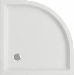 Sprchová vanička TAKO 80x16, štvrťkruh, BUILT-IN-PANEL CW (S204-003), fotografie 4/2