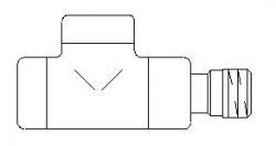 """VÝPRODEJ - Spätný ventil Oventrop """"Combi E"""" jednoduchý, chróm, DN15-1 / 2 """" (243277VYP)"""