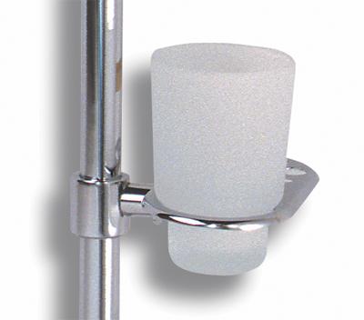 NOVASERVIS - držiak skleničky a kartáčků na tyč  Metalia 1 chróm (6149/1,0)