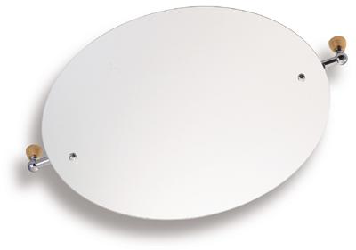 NOVASERVIS - Zrkadlo s výklopným držiakom ovál 60x50cm  Metalia 3 satino (6317,9)