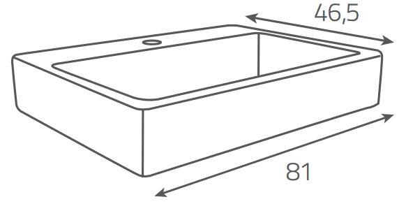 OPOCZNO - NÁBYTKOVÉ UMÝVADLO METROPOLITAN Symetrical 80 (OK581-004-BOX)