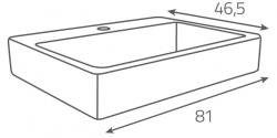 OPOCZNO - NÁBYTKOVÉ UMÝVADLO METROPOLITAN Symetrical 80 (OK581-004-BOX), fotografie 10/6