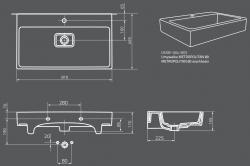 OPOCZNO - NÁBYTKOVÉ UMÝVADLO METROPOLITAN Symetrical 80 (OK581-004-BOX), fotografie 12/6