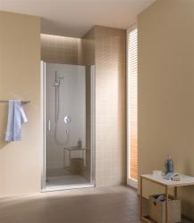 Kermi Kyvné dvere Cada XS 1WR 09020 860-910 / 2000 strieborná vys.lesk ESG číre Clean 1-krídlové kyvné dvere s pánty vpravo (CC1WR09020VPK)