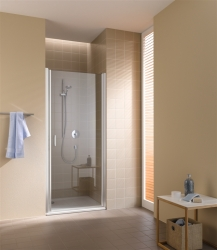 Kermi Kyvné dvere Cada XS 1WR 09520 910-960 / 2000 strieborná vys.lesk Serig.CC Clean 1-krídlové kyvné dvere s pánty vpravo (CC1WR09520VVK)