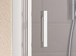 Kermi Kyvné dvere Cada XS 1GR 08020 760-810 / 2000 strieborná vys.lesk ESG číre Clean 1-krídlové kyvné dvere s pev. poľom pánty vpravo (CC1GR08020VPK), fotografie 2/9