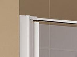 Kermi Kyvné dvere Cada XS 1GR 08020 760-810 / 2000 strieborná vys.lesk ESG číre Clean 1-krídlové kyvné dvere s pev. poľom pánty vpravo (CC1GR08020VPK), fotografie 4/9
