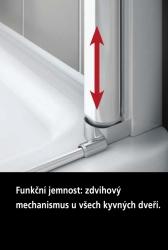 Kermi Kyvné dvere Cada XS 1GR 08020 760-810 / 2000 strieborná vys.lesk ESG číre Clean 1-krídlové kyvné dvere s pev. poľom pánty vpravo (CC1GR08020VPK), fotografie 6/9