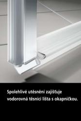 Kermi Kyvné dvere Cada XS 1GR 08020 760-810 / 2000 strieborná vys.lesk ESG číre Clean 1-krídlové kyvné dvere s pev. poľom pánty vpravo (CC1GR08020VPK), fotografie 8/9
