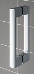 Kermi Kyvné dvere Cada XS 1GR 08020 760-810 / 2000 strieborná vys.lesk ESG číre Clean 1-krídlové kyvné dvere s pev. poľom pánty vpravo (CC1GR08020VPK), fotografie 18/9