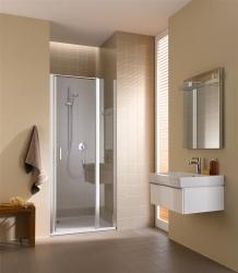 Kermi Kyvné dvere Cada XS 1GR 12020 1160-1210 / 2000 strieborná vys.lesk ESG číre Clean 1-krídlové kyvné dvere s pev. poľom pánty vpravo (CC1GR12020VPK)