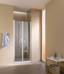 Kermi Kyvné dvere Cada XS PTD 09020 860-910 / 2000 strieborná vys.lesk ESG číre Clean Kyvné dvere (CCPTD09020VPK)