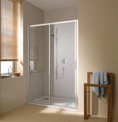 Kermi Posuvné dvere Cada XS G2R 14020 1370-1410 / 2000 biela ESG číre Clean 2-dielne posuvné dvere s pevným poľom pevné pole vpravo (CCG2R140202PK)