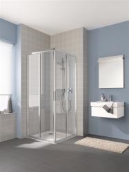 Kermi Rohový vstup Cada XS E2L 08020 775-800 / 2000 biela ESG číre Clean Rohový vstup 2-dielny (posuvné dvere) ľavý polovičný diel (CCE2L080202PK)
