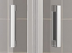 Kermi Štvrťkruh Cada XS P55 08020 775-800 / 2000 biela ESG číre Clean Štvrťkruh (kyvné dvere s pevnými poľami) (CCP55080202PK), fotografie 8/8