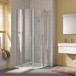 Kermi Štvrťkruh Cada XS P55 09020 875-900 / 2000 biela ESG číre Clean Štvrťkruh (kyvné dvere s pevnými poľami) (CCP55090202PK)
