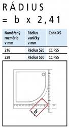 Kermi Štvrťkruh Cada XS P55 09020 875-900 / 2000 biela ESG číre Clean Štvrťkruh (kyvné dvere s pevnými poľami) (CCP55090202PK), fotografie 6/8