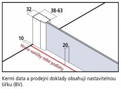 Kermi Štvrťkruh Cada XS P55 10120 975-1000 / 2000 biela ESG číre Clean Štvrťkruh (kyvné dvere s pevnými poľami) (CCP55101202PK), fotografie 16/8