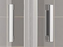 Kermi Štvrťkruh Cada XS P55 10120 975-1000 / 2000 strieborná vys.lesk ESG číre Clean Štvrťkruh (kyvné dvere s pevnými poľami) (CCP5510120VPK), fotografie 8/8