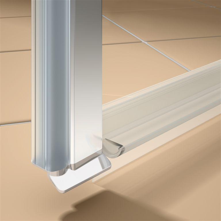 Kermi Štvrťkruh Cada XS P55 10120 975-1000 / 2000 strieborná vys.lesk ESG číre Clean Štvrťkruh (kyvné dvere s pevnými poľami) (CCP5510120VPK)