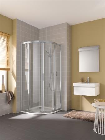 Kermi Štvrťkruh Cada XS R55 09020 875-900 / 2000 biela ESG číre Clean Štvrťkruh (posuvné dvere) (CCR55090202PK)