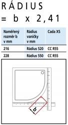 Kermi Štvrťkruh Cada XS R55 08020 775-800 / 2000 strieborná vys.lesk ESG číre Clean Štvrťkruh (posuvné dvere) (CCR5508020VPK), fotografie 6/6