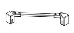 Kermi Stabilizátor Cada XS SSVSW Länge 500 mm biela (ZDSSVSWCC0502K)