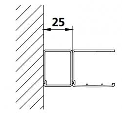 Kermi rozširovací profil Cada XS SVSV1 Höhe 2000mm strieborná vys.lesk (ZDSVSV1CC200VK)