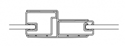 Kermi Kombinačné profil Cada XS KPKTF Höhe 2000 mm biela (ZDKPKTFCC2002K)
