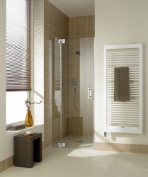Kermi Kyvné dvere Filia XP 1TR 11020 1080-1110 / 2000 strieborná vysoký lesk ESG číre Clean 1-krídlové kyvné dvere s pevným poľom pánty vpravo (FX1TR11020VPK)