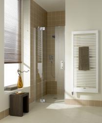 Kermi Kyvné dvere Filia XP 1TR 13020 1280-1310 / 2000 strieborná vysoký lesk ESG číre Clean 1-krídlové kyvné dvere s pevným poľom pánty vpravo (FX1TR13020VPK)