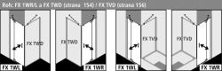 Kermi Kyvné dvere Filia XP 1WR 09020 875-900 / 2000 strieborná vys.lesk ESG číre Clean 1-krídlové kyvné dvere s pevným poľom pre bočnú stenu / skrátenú bočnú stenu (FX1WR09020VPK), fotografie 6/8