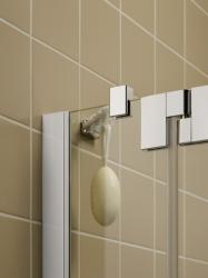 Kermi Kyvné dvere Filia XP 1WR 09020 875-900 / 2000 strieborná vys.lesk ESG číre Clean 1-krídlové kyvné dvere s pevným poľom pre bočnú stenu / skrátenú bočnú stenu (FX1WR09020VPK), fotografie 4/8