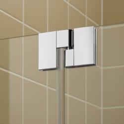 Kermi Kyvné dvere Filia XP 1WR 09020 875-900 / 2000 strieborná vys.lesk ESG číre Clean 1-krídlové kyvné dvere s pevným poľom pre bočnú stenu / skrátenú bočnú stenu (FX1WR09020VPK), fotografie 8/8