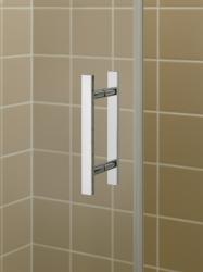Kermi Kyvné dvere Filia XP 1WR 09020 875-900 / 2000 strieborná vys.lesk ESG číre Clean 1-krídlové kyvné dvere s pevným poľom pre bočnú stenu / skrátenú bočnú stenu (FX1WR09020VPK), fotografie 12/8