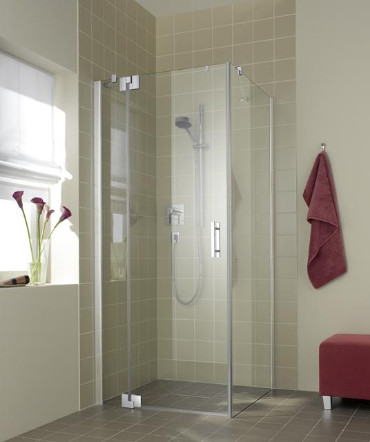 Kermi Kyvné dvere Filia XP 1WR 13020 1275-1300 / 2000 strieborná vys.lesk ESG číre Clean 1-krídlové kyvné dvere s pevným poľom pre bočnú stenu / skrátenú bočnú stenu (FX1WR13020VPK)