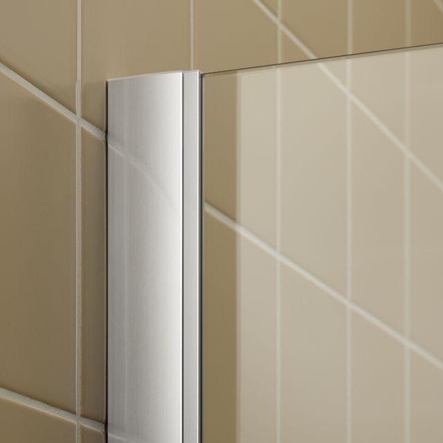 Kermi Štvrťkruh Filia XP P50 09020 875-900 / 2000 strieborná vys.lesk ESG číre Clean Čtvrtkruhový spŕch. kút kývne dvere s pevnými poľami (FXP5009020VPK)