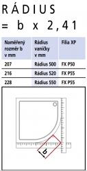 Kermi Štvrťkruh Filia XP P50 09020 875-900 / 2000 strieborná vys.lesk ESG číre Clean Čtvrtkruhový spŕch. kút kývne dvere s pevnými poľami (FXP5009020VPK), fotografie 18/9