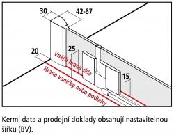 Kermi Štvrťkruh Filia XP P55 09020 875-900 / 2000 strieborná vys.lesk ESG číre Clean Čtvrtkruhový spŕch. kút kývne dvere s pevnými poľami (FXP5509020VPK), fotografie 10/9