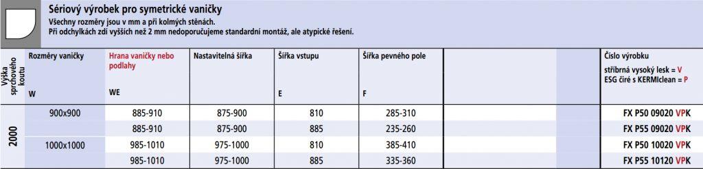 Kermi Štvrťkruh Filia XP P55 10120 975-1000x2000 strieborná vys.lesk ESG číre Clean Čtvrtkruhový spŕch. kút kývne dvere s pevnými poľami (FXP5510120VPK)