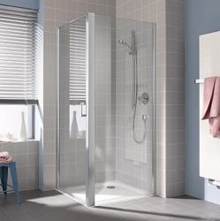 Kermi Bočná stena Cada XS TWD 04020 360-410 / 2000 biela ESG číre Clean bočná stena (CCTWD040202PK)