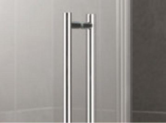 Kermi Štvrťkruh Pasa XP P50 10018 970-1000 / 1850 strieborná matná ESG číre Štvrťkruhový sprchovací kút kývne dvere s pevnými poľami (PXP50100181AK)
