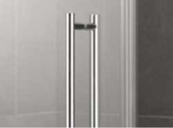 Kermi Štvrťkruh Pasa XP P55 10118 970-1000 / 1850 strieborná matná ESG číre Štvrťkruhový sprchovací kút kývne dvere s pevnými poľami (PXP55101181AK), fotografie 4/7