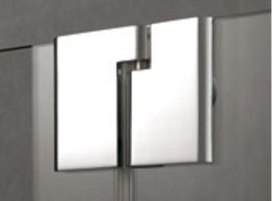 Kermi Štvrťkruh Pasa XP P50 09020 870-900 / 2000 strieborná matná ESG číre Štvrťkruhový sprchovací kút kývne dvere s pevnými poľami (PXP50090201AK)