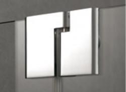 Kermi Štvrťkruh Pasa XP P55 09020 870-900 / 2000 strieborná vys.lesk ESG číre Štvrťkruhový sprchovací kút kývne dvere s pevnými poľami (PXP5509020VAK), fotografie 2/7