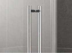 Kermi Štvrťkruh Pasa XP P50 09018 870-900 / 1850 strieborná matná ESG číre Clean Štvrťkruhový sprchovací kút kývne dvere s pevnými poľami (PXP50090181PK), fotografie 4/7